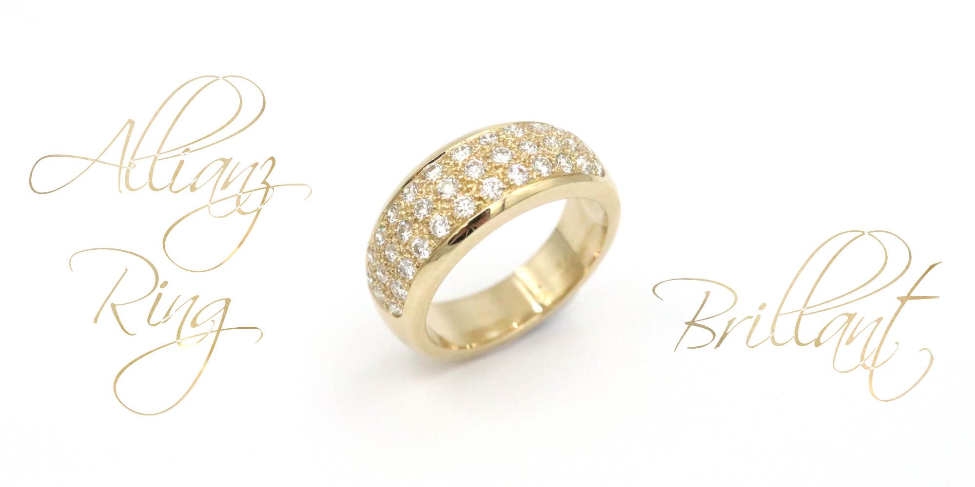 Brillant Allianz Ring Goldschmiede Mace